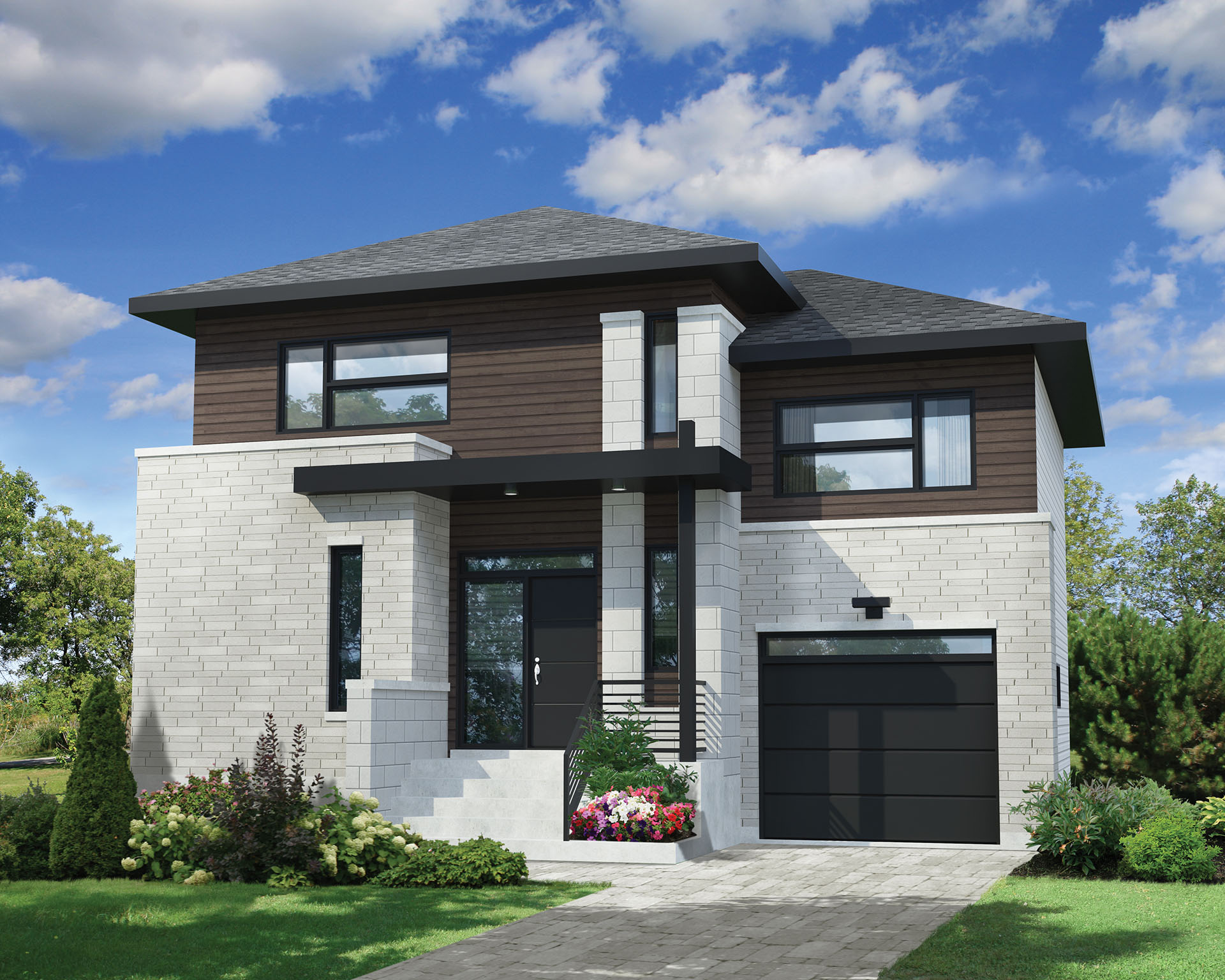 Split level contemporary house plan 80804pm for Split home designs