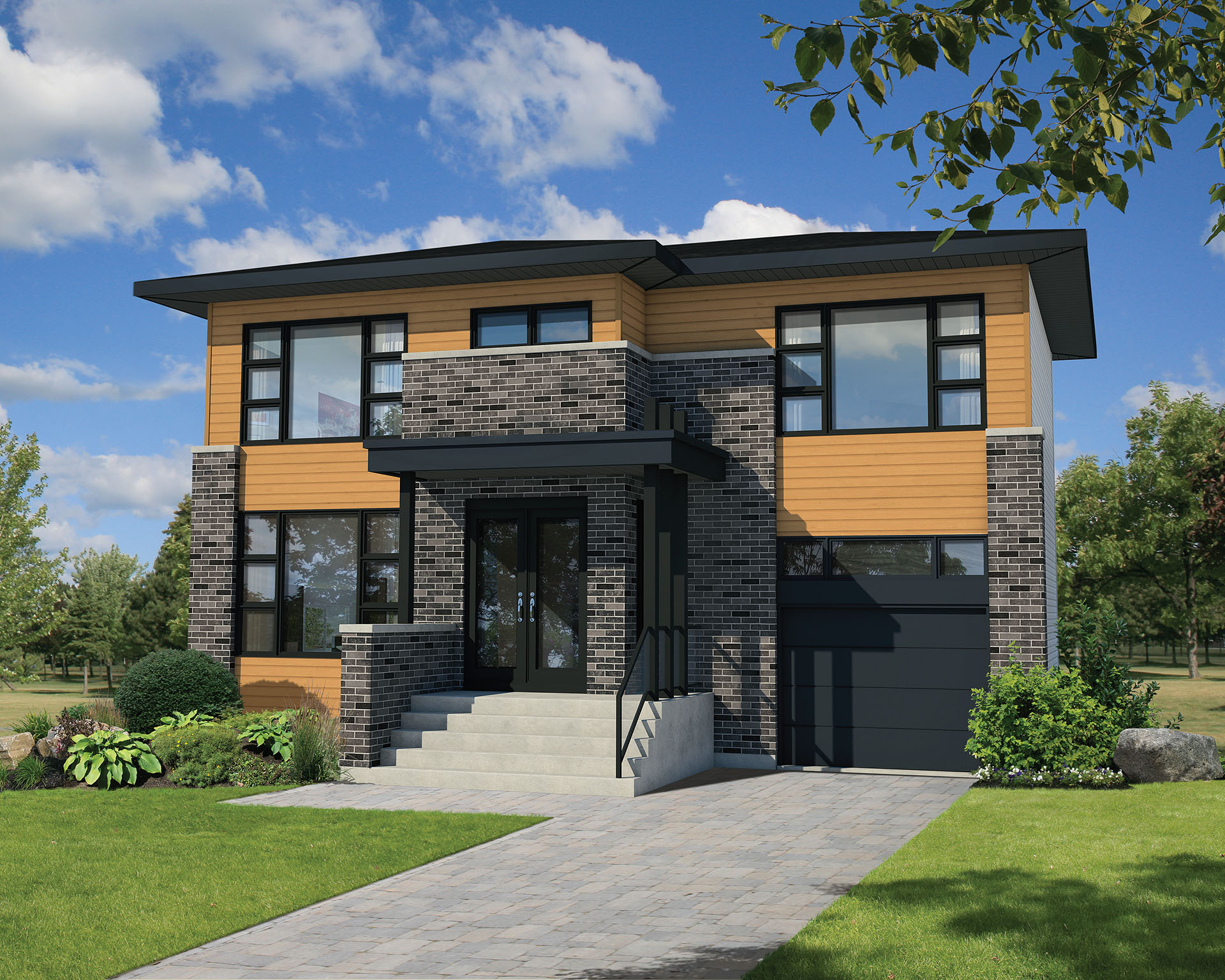 Narrow lot contemporary house plan 80807pm for Modern house design small lot
