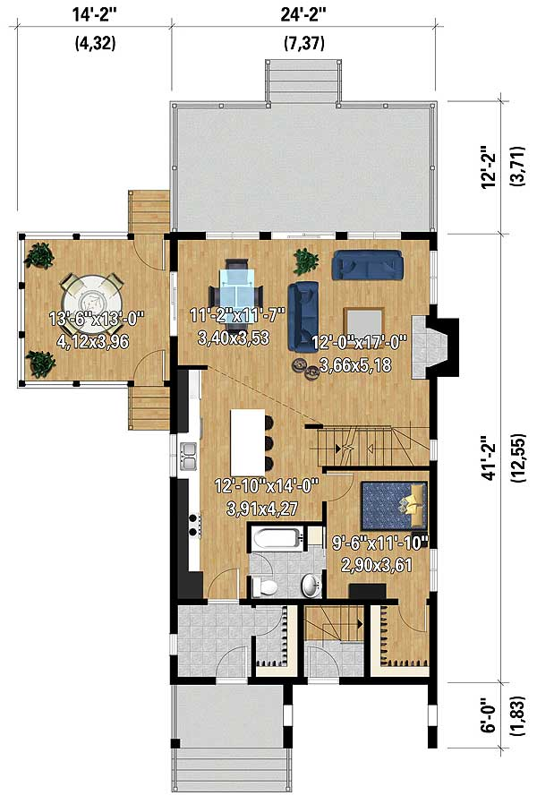 Vacation haven 80817pm 2nd floor master suite beach for Vacation floor plans