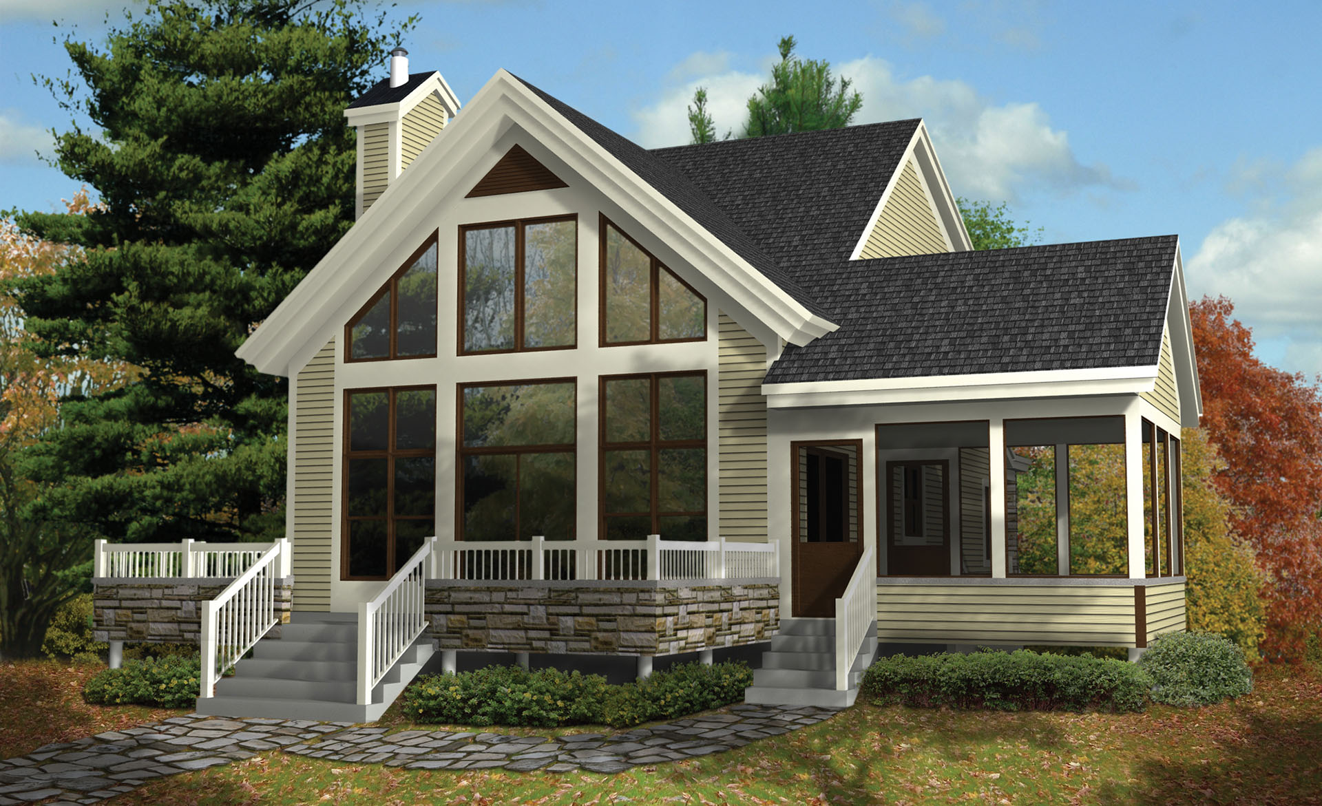vacation cottage plans vacation haven 80817pm architectural designs house plans 8186