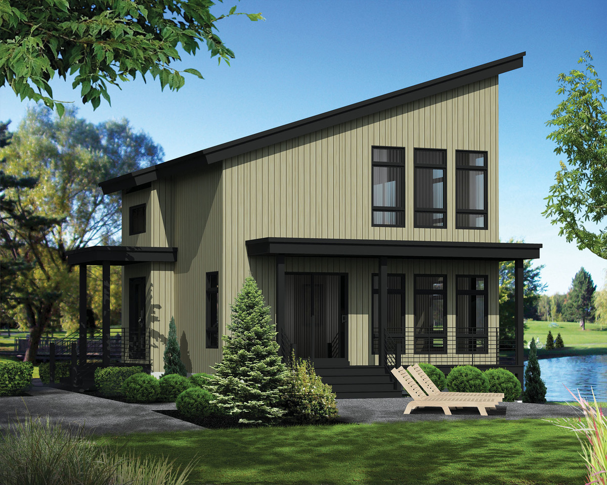 Compact vacation house plan 80818pm architectural for Modern vacation homes
