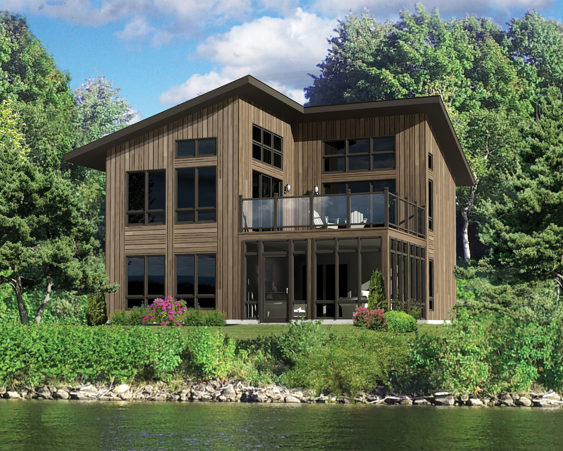 Tiny Home Designs: Contemporary Vacation House Plan - 80819PM