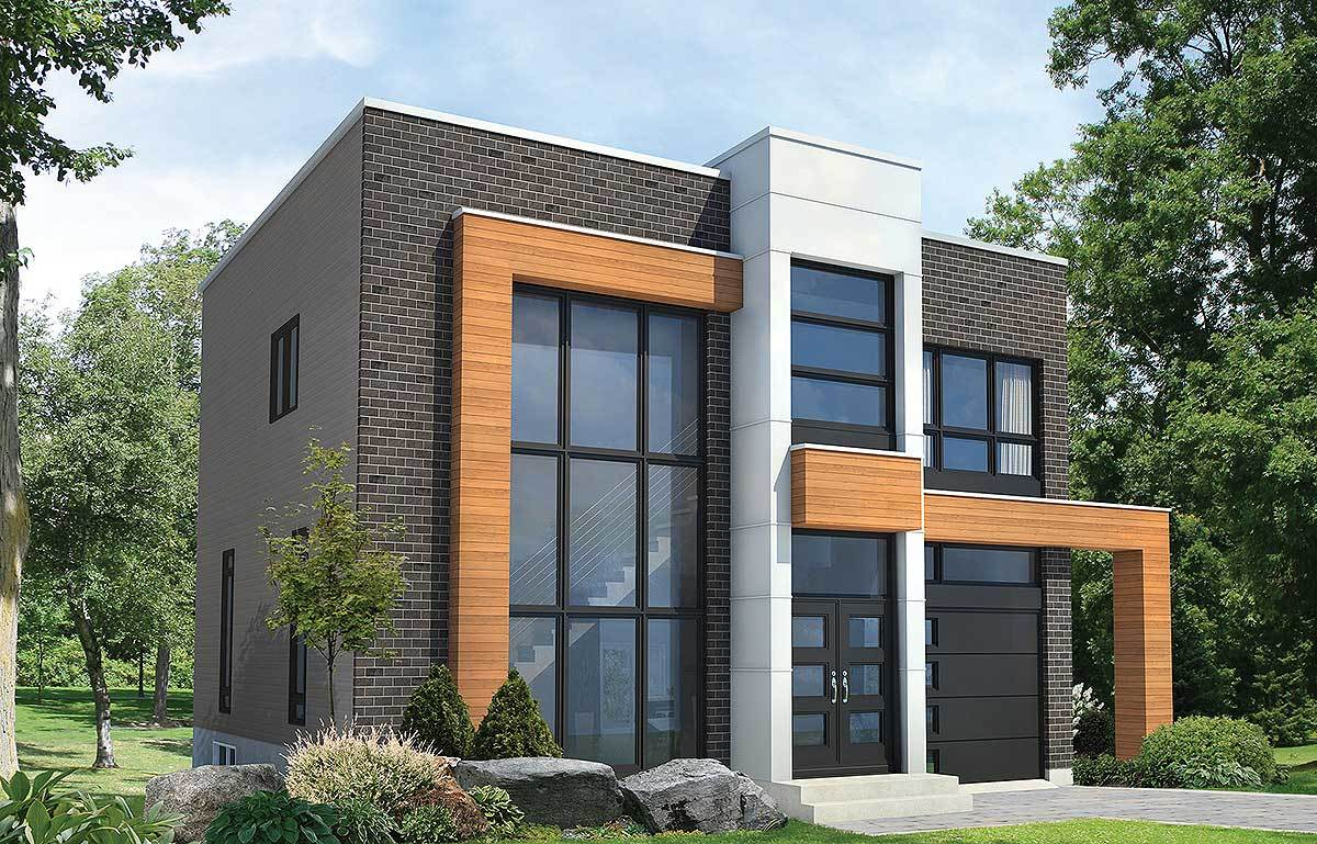 Open concept modern house plan 80827pm architectural for 90s modern house