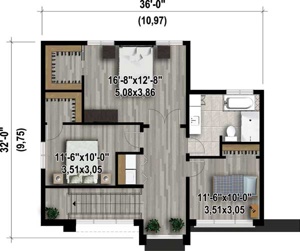 Open concept modern house plan 80827pm architectural for Modern open concept house plans
