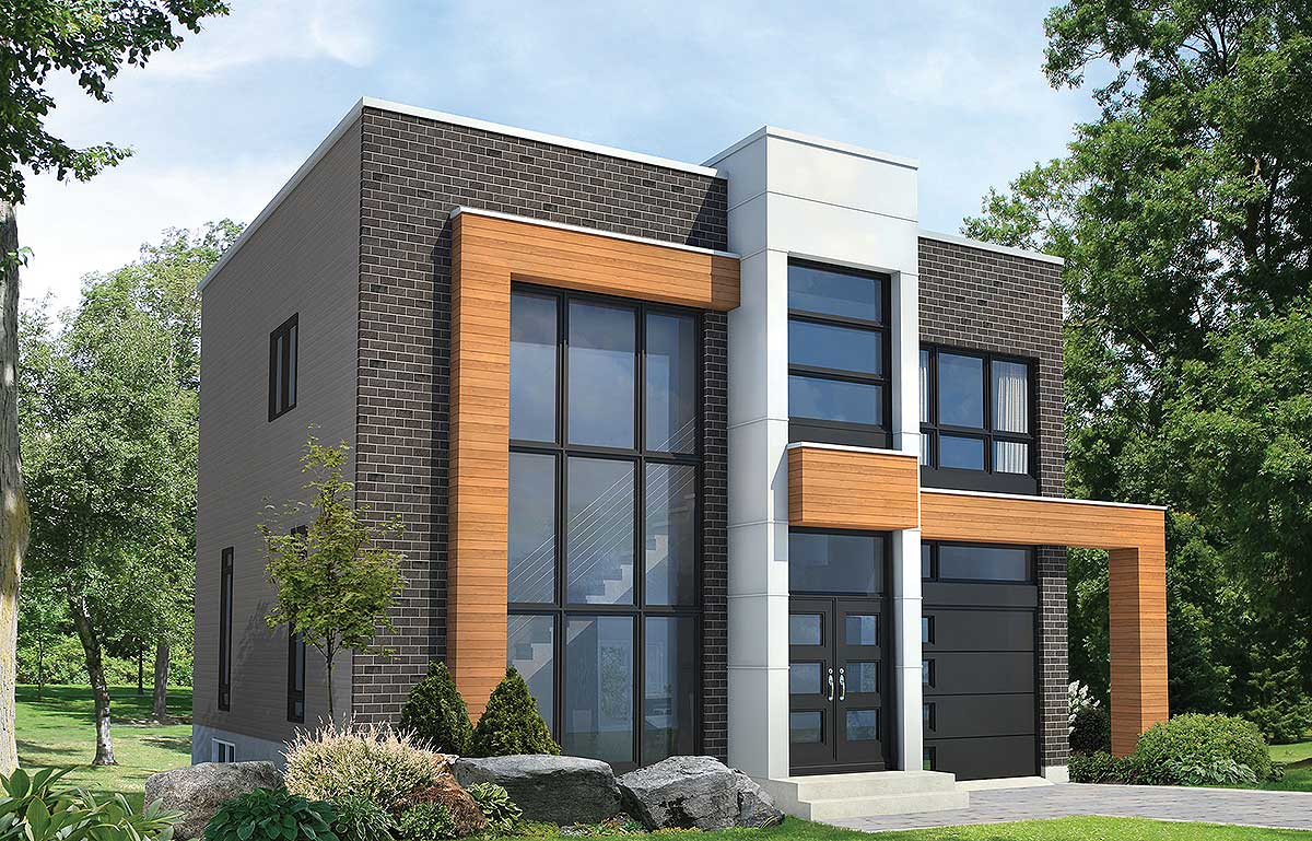 Open Concept Modern House Plan - 80827PM | 2nd Floor ...