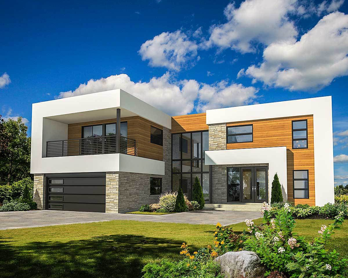 4 Bed Modern House Plan with Master