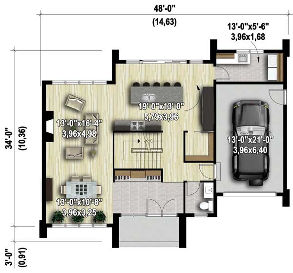 Two Story Modern House Plan 80829pm Architectural Designs
