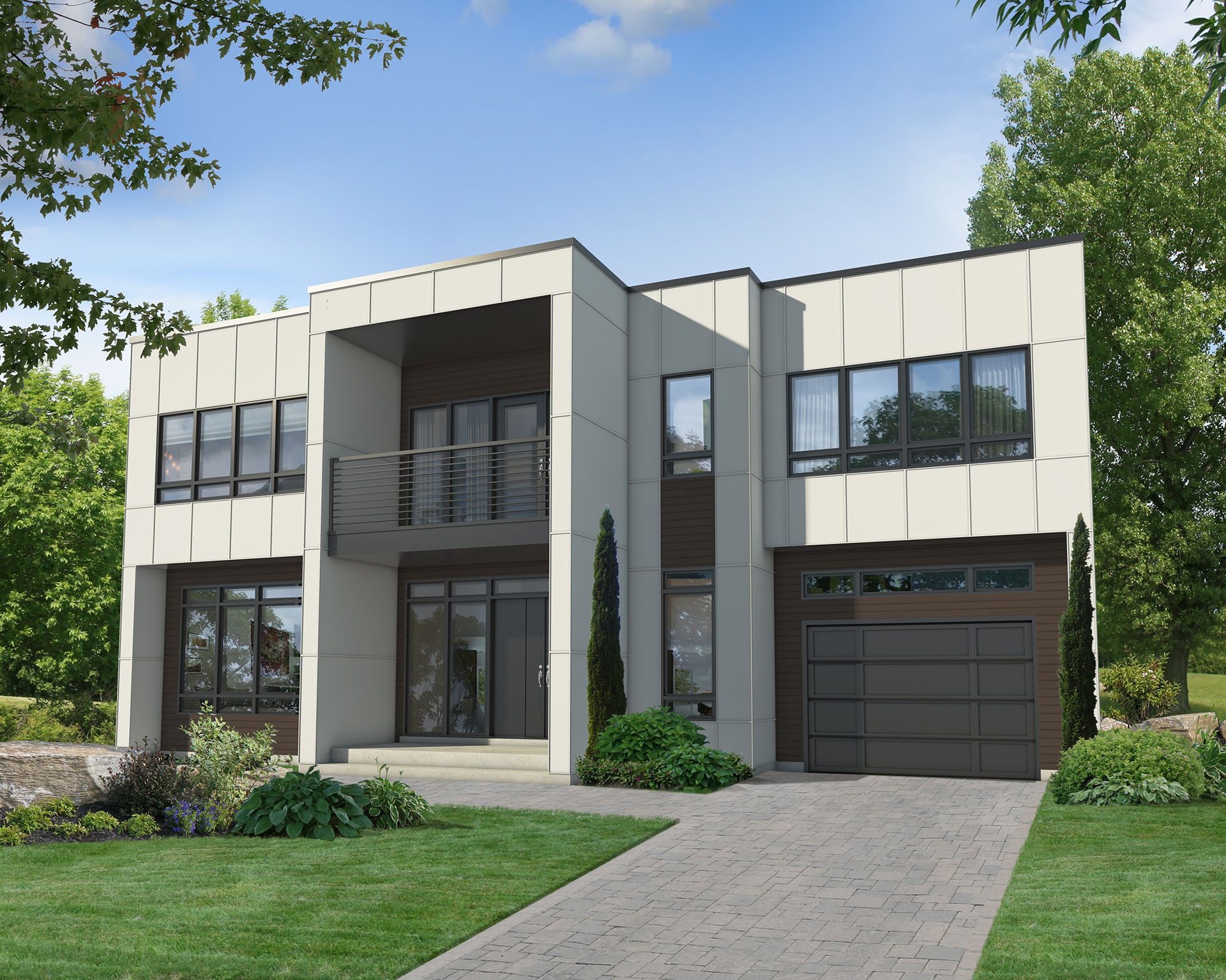 Two story modern house plan 80829pm architectural - Modern architectural designs floor plans ...