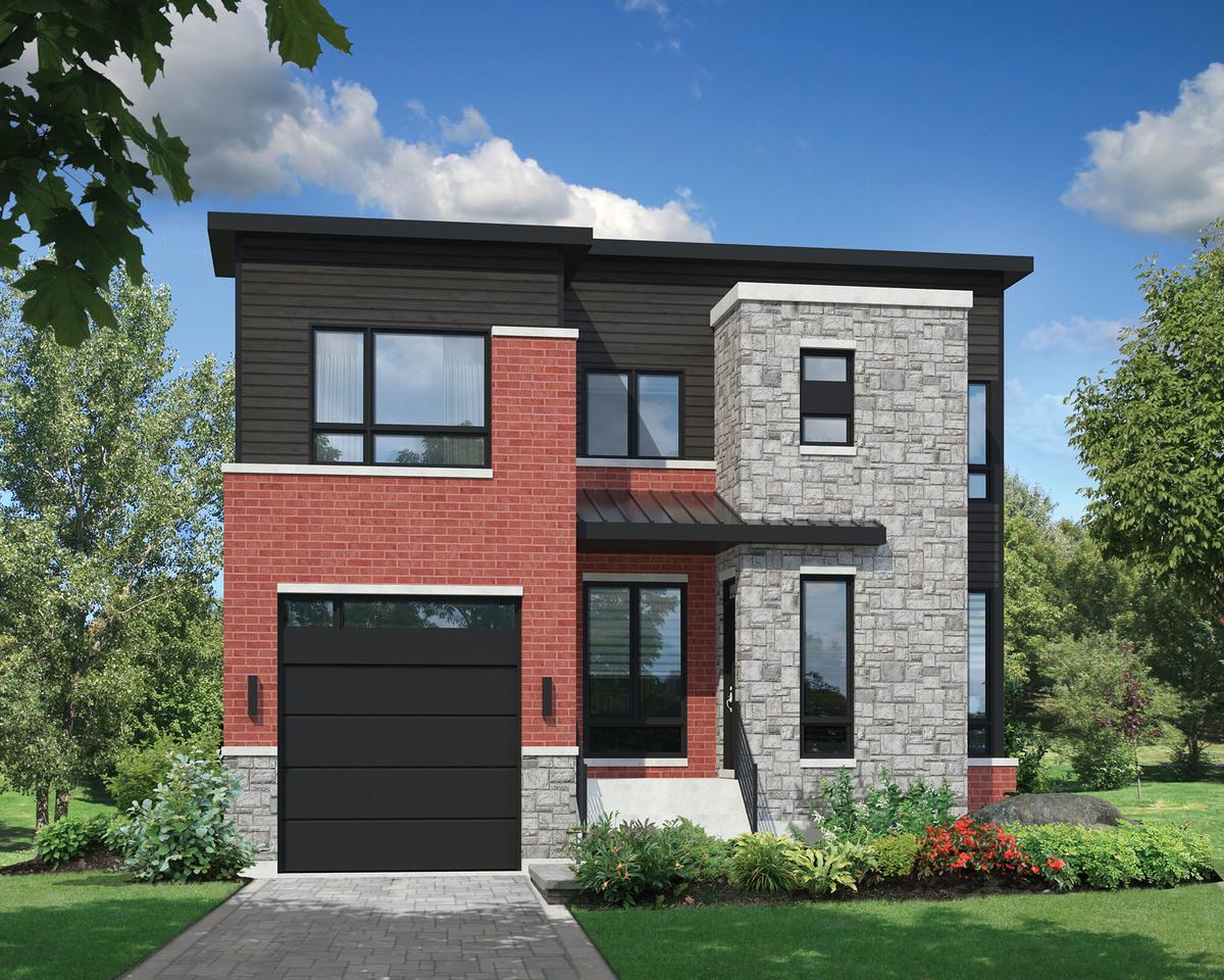 Open concept modern house plan 80830pm architectural for Modern open concept house plans