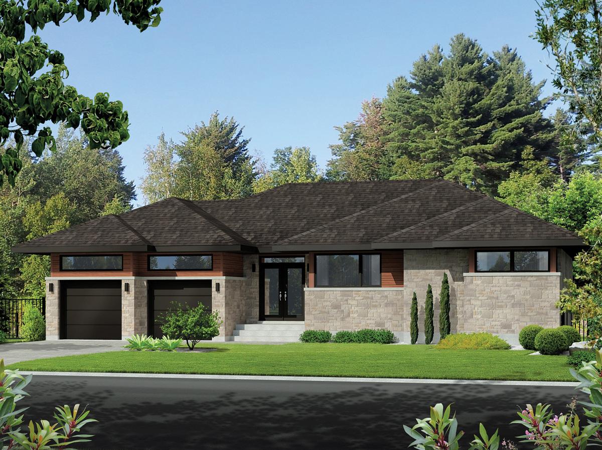 One level prairie style house plan 80833pm for Prairie home plans