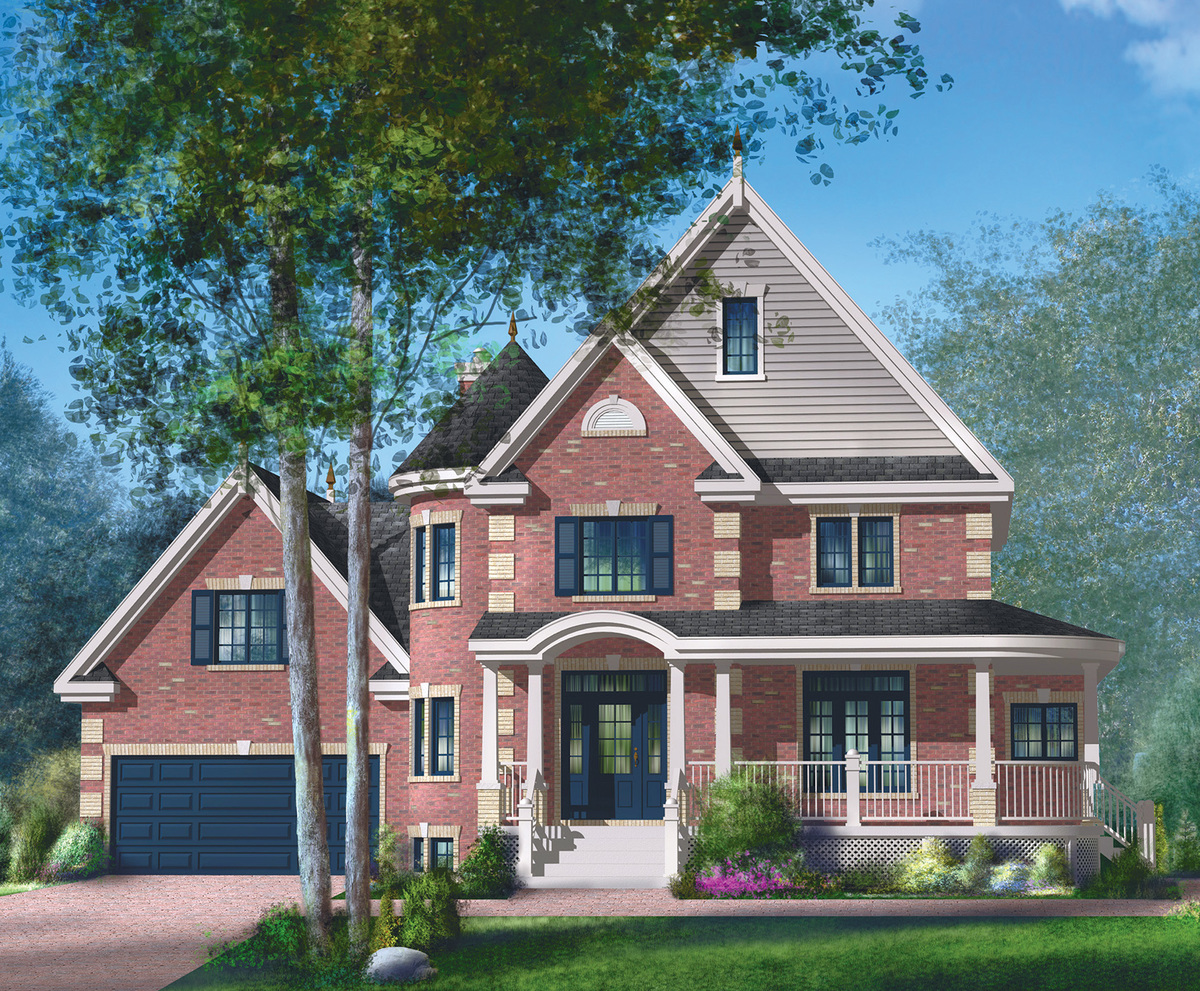 Brick victorian house plan 80835pm architectural for Brick home plans