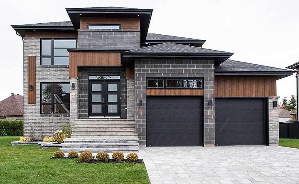 Multi level modern house plan 80840pm architectural for Casas en garajes