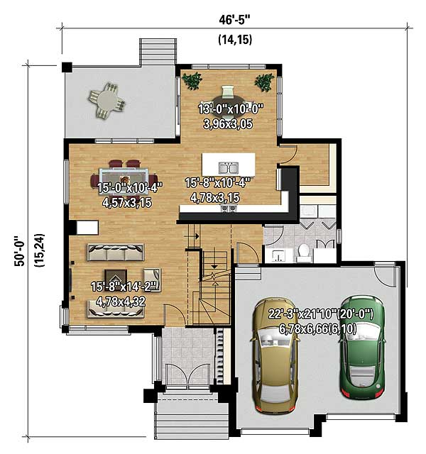 Multi level modern house plan 80840pm architectural for Multi level floor plans