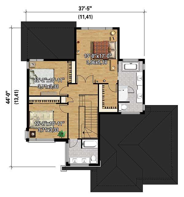Multi level modern house plan 80840pm architectural for Multi level floor plans
