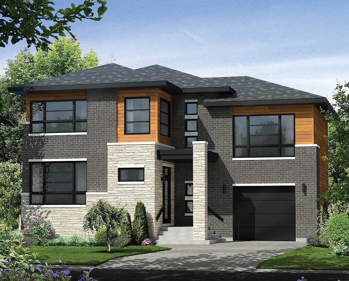 Multi level contemporary house plan 80846pm for Multi level house plans