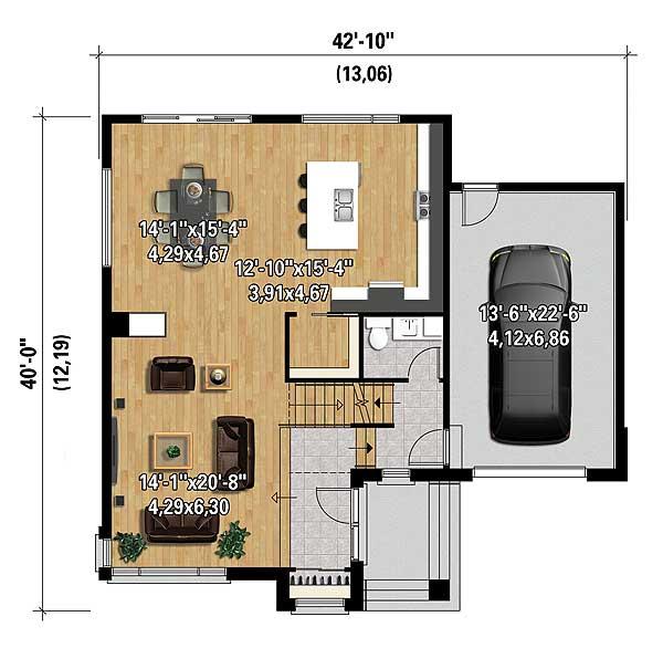 Multi Level Contemporary House Plan 80846pm