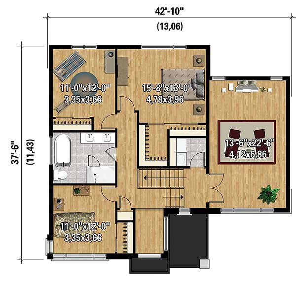Multi Level Contemporary House Plan 80846pm