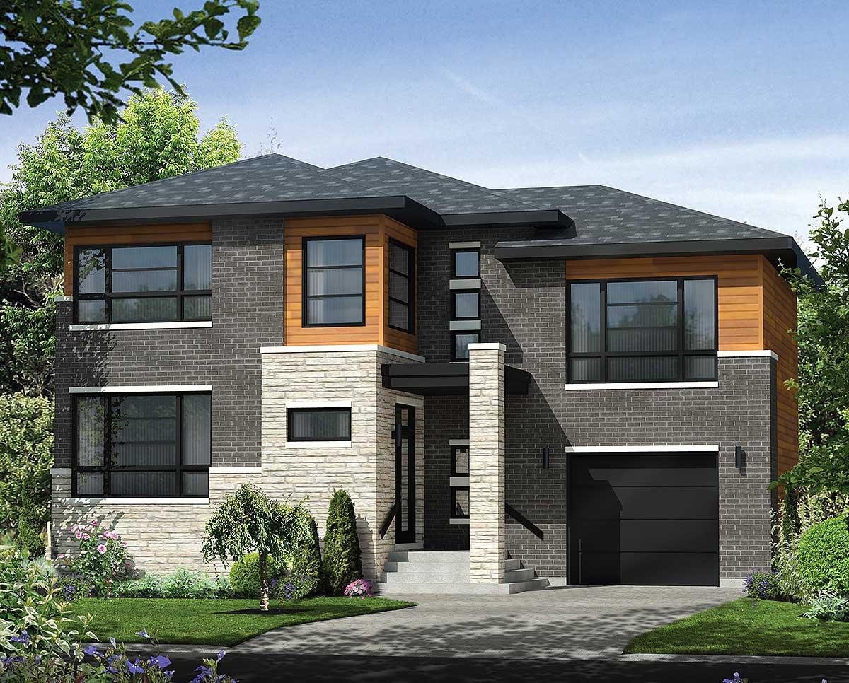 Multi level contemporary house plan 80846pm for Multi level house design