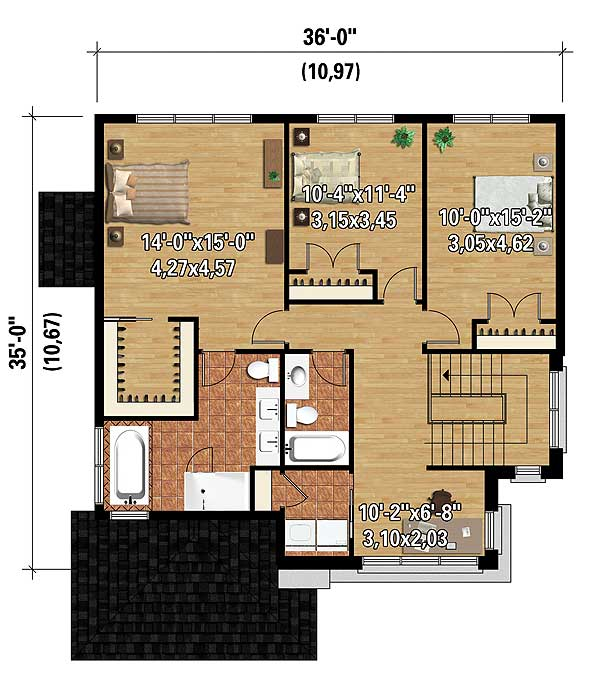 Two story northwest house plan 80847pm architectural for Northwest floor plans