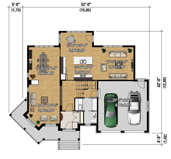 Rustic farmhouse house plan 80849pm 2nd floor master for Rustic farmhouse floor plans