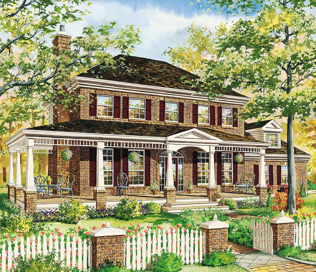 Classic traditional house plan 80860pm architectural for Traditional home floor plans