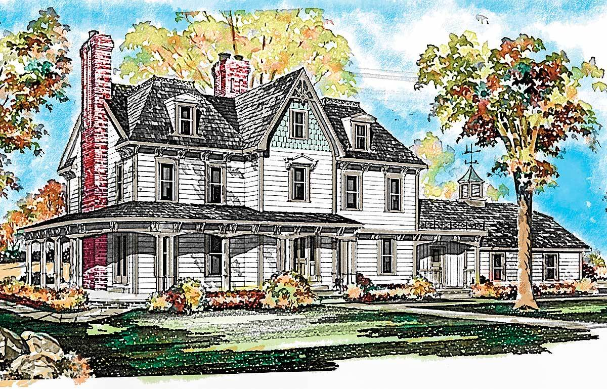 Gothic Victorian Style House Plan - 81027W | Architectural Designs ...