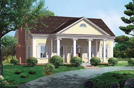 greek revival home plan - 81037w | architectural designs - house plans