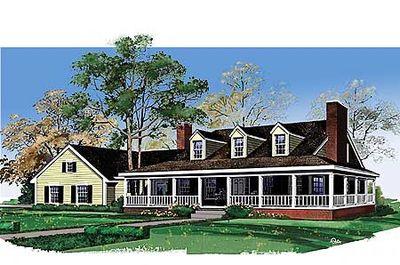 Cozy Traditional Farmhouse - 81081W thumb - 01