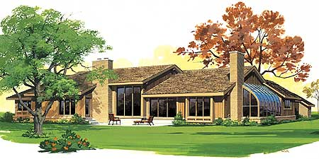 L shaped ranch house plan 81100w 1st floor master for L shaped ranch homes