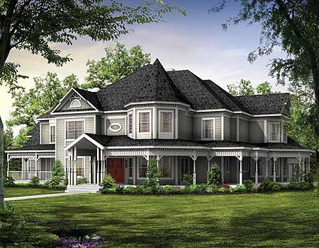 Magnificent Victorian Estate Home Plan 81117W Architectural