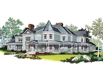 Magnificent Victorian Estate Home Plan - 81117W thumb - 02