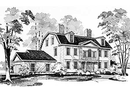 historic house plan - 81134w | architectural designs - house plans