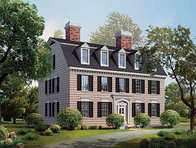 Simplicity In A Federal Style Home Plan 81142w