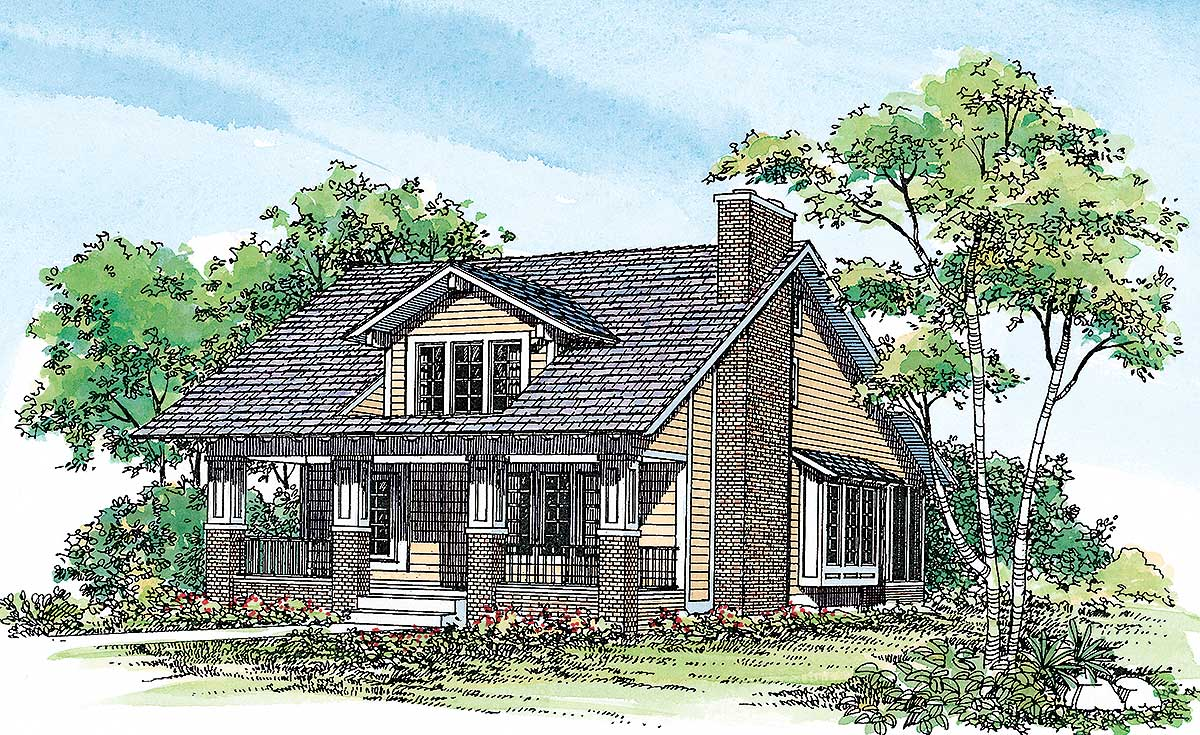 traditional craftsman house plans traditional craftsman exterior 81160w 2nd floor master 22399