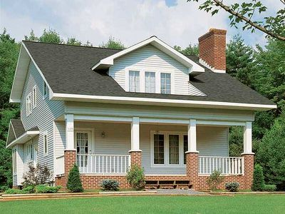 Traditional craftsman exterior 81160w architectural for Architectural designs craftsman style homes