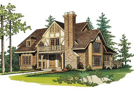 Quaint tudor cottage 81167w 1st floor master suite for Tudor cottage plans