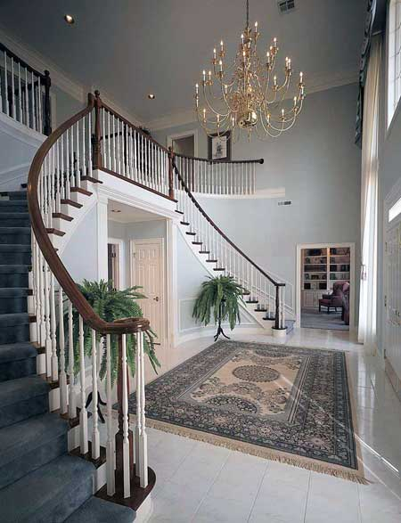 Grand georgian design 81175w 1st floor master suite for Georgian staircase design