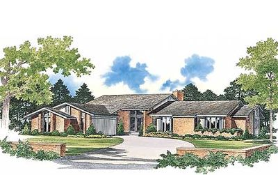 Grand Contemporary Ranch Home Plan - 81180W thumb - 01
