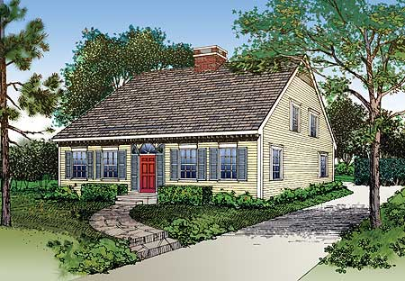 Charming cape house plan 81264w 1st floor master suite for Cape cod house numbers