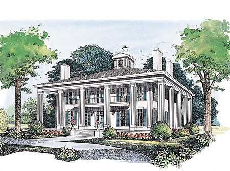 Magnificent plantation home plan 81269w architectural for Plantation house plans with wrap around porch