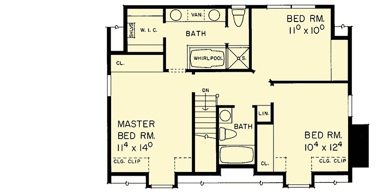 Updated cape 81290w 2nd floor master suite cad for Cape cod house plans with first floor master bedroom