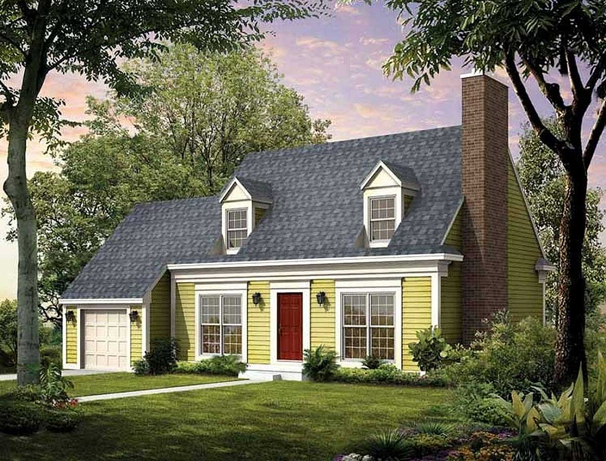 Updated Cape - 81290W | Architectural Designs - House Plans