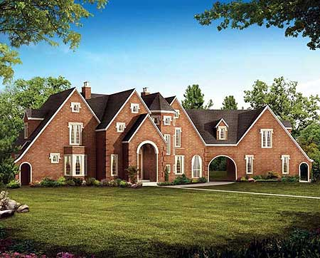 Your own country estate 81307w 1st floor master suite for Country estate home plans