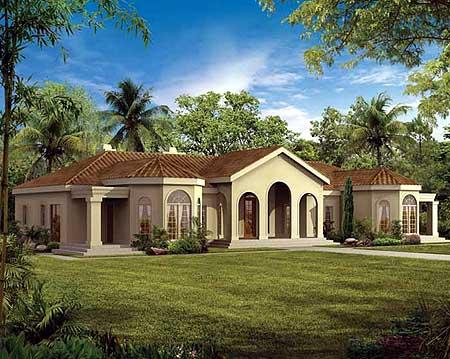 Pueblo style ranch home plan 81387w southwest 1st for Pueblo house plans