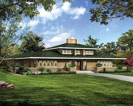 Classic prairie style house plan 81313w 1st floor Prairie house plans