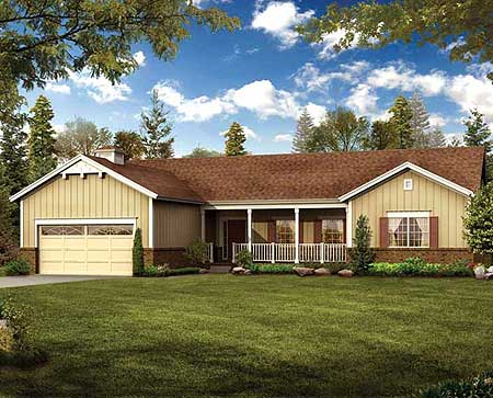 Simple to Build Ranch Home Plan 81317W Architectural