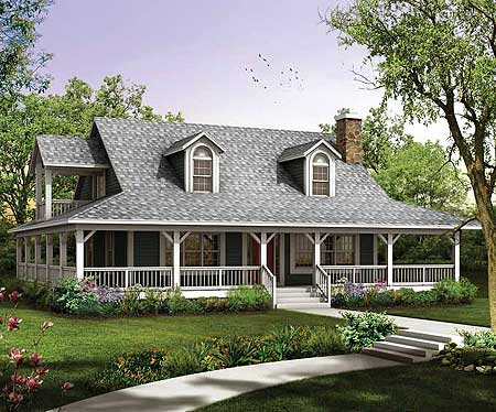 Cozy charmer 81338w 2nd floor master suite cad for House plans with loft and wrap around porch