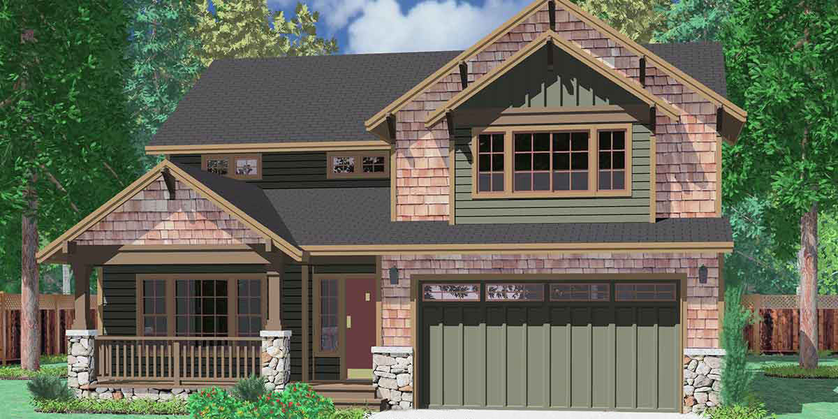 Northwest House Plan With Craftsman Touches 8134lb