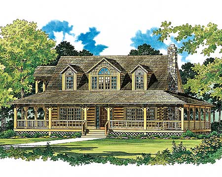 Country Farmhouse with Contemporary Appeal 81340W