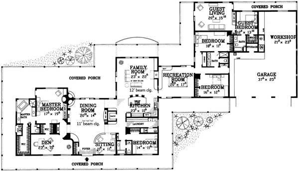 Architectural designs for House plans with inlaw quarters